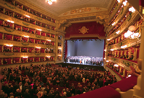 Interior of La Scala Opera in Milan